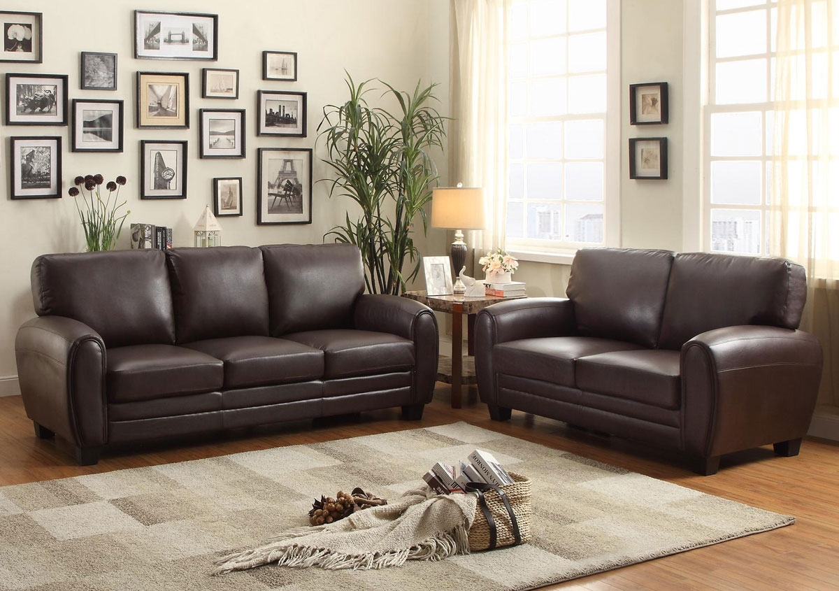 Charley Brown Leather Sofa