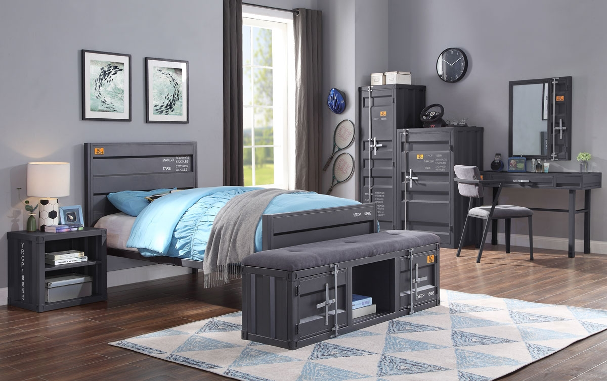 Container Gunmetal Youth Bedroom Furniture