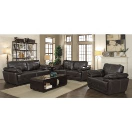 Murik Brown Leather Casual Living Room