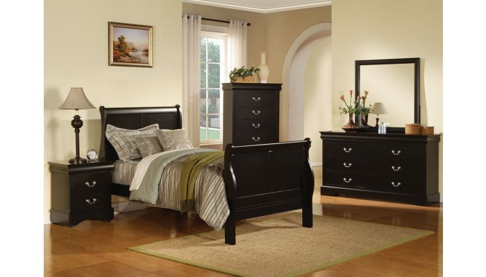 Louis Phillipe Black Youth Bedroom