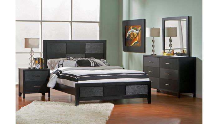 Grove Panel Contemporary Style Bedroom