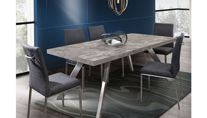 Adria Modern Dining Table Concrete Look