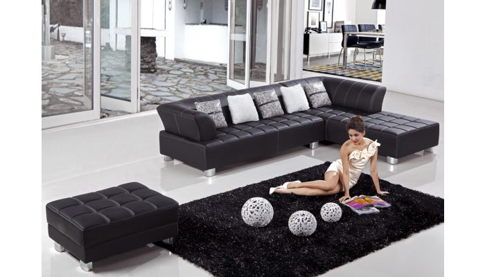 Star Leather Sectional Sofa Set