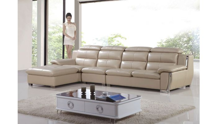 Xena Modern Leather Sectional Sofa