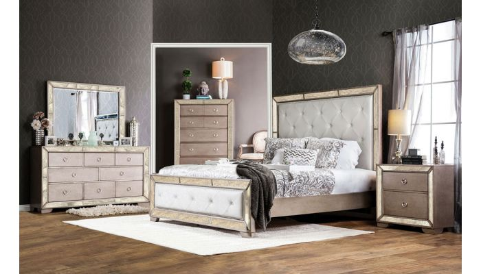Ailyn Bedroom Furniture With Mirrored Accents