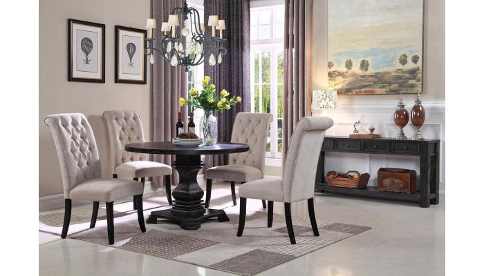 Alberta Round Dining Table Set