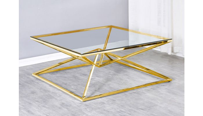 Gianni Gold Finish Coffee Table