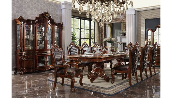 Alexandra Victorian Style Dining Table Set, Victorian Style Dining Room Set