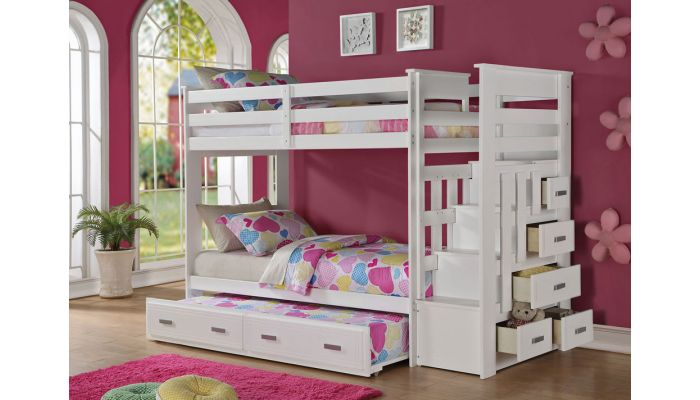 Allentown Storage Bunkbed With Trundle