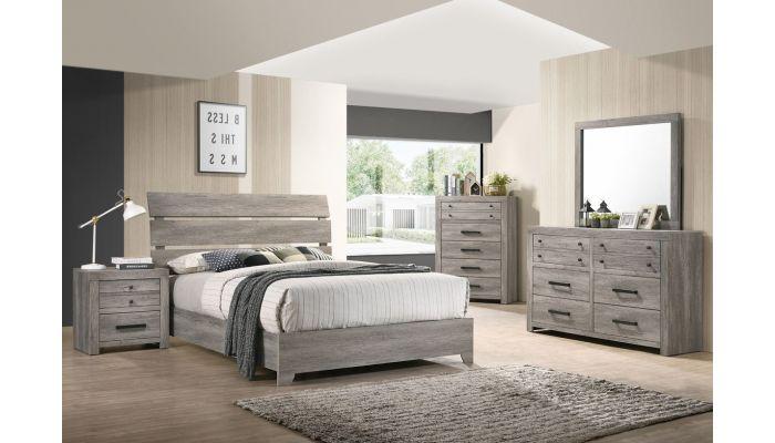 Alleya Rustic Grey Platform Bed