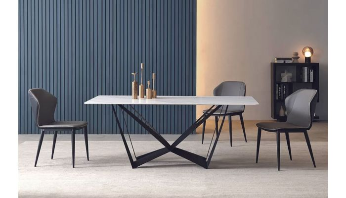 Alouette Marble Top Dining Table Set