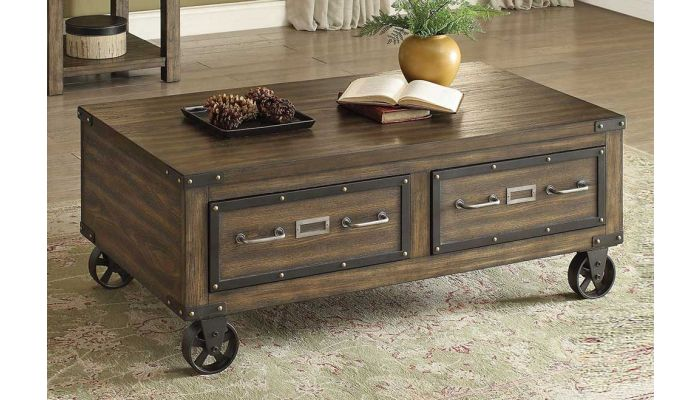 Amado Industrial Style Storage Coffee Table