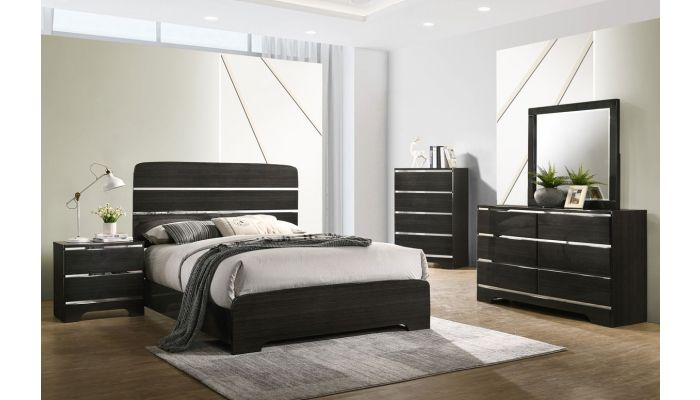 Amory Bedroom Furniture Glossy Finish