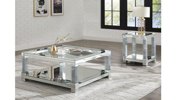 Anderson Square Mirrored Coffee Table
