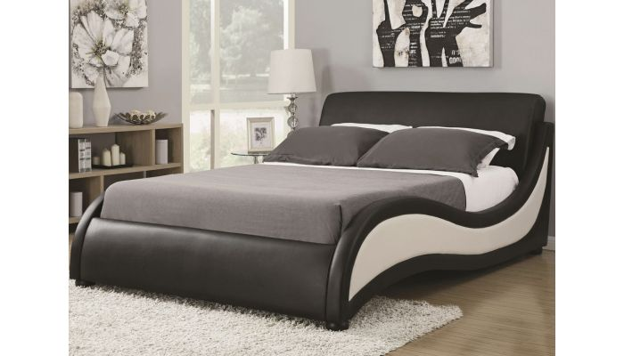 Apollo Black And White Leather Bed