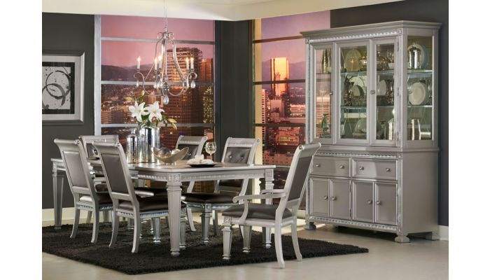 Agata Contemporary Dining Room Set, Dining Room Set With China Cabinet