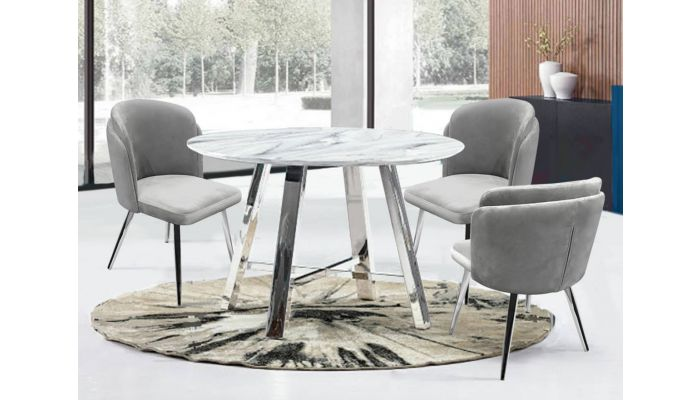 Archstone Faux Carrera Marble Top Table