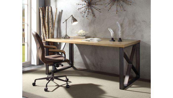 Arlow Gold Aluminum Office Desk