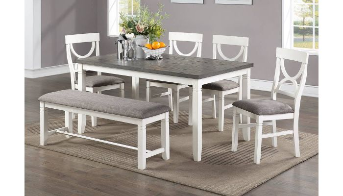 Armus 6-Piece Dining Table Set With Bench