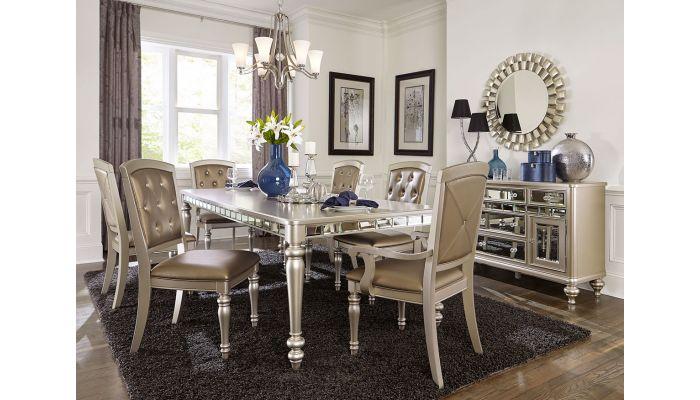 Nia Mirrored Dining Room Furniture Set