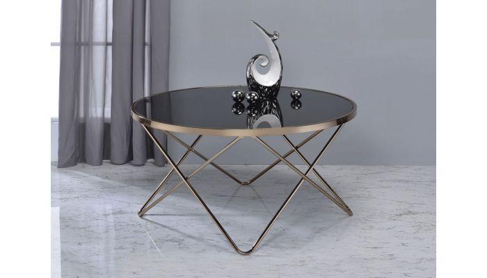 Atkins Black Glass Top Coffee Table