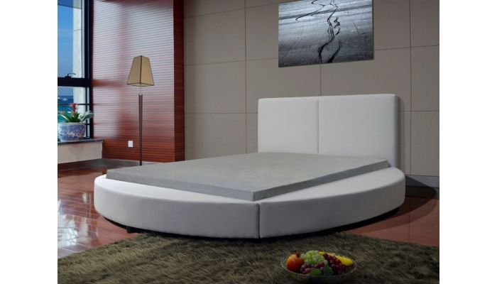 Atlas Leather Round Bed