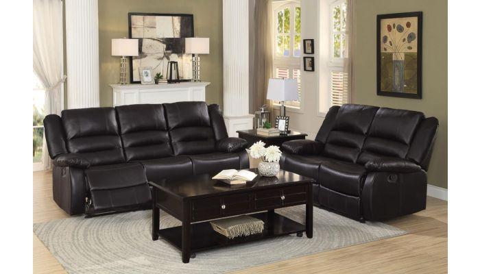 Aubrey Dual Recliner Sofa Espresso Leather
