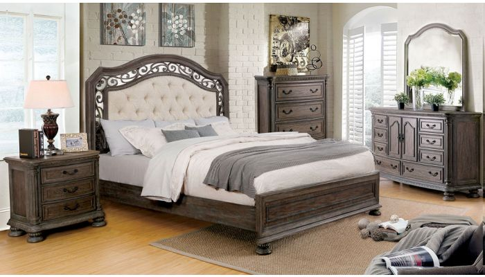 Augustine Court Rustic Finish Bed