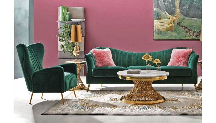 Margo Modern Design Sofa Emerald Green