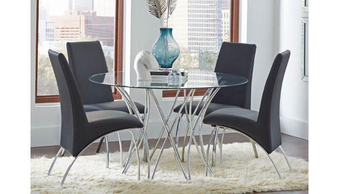 Azura Modern Round Dining Table Set