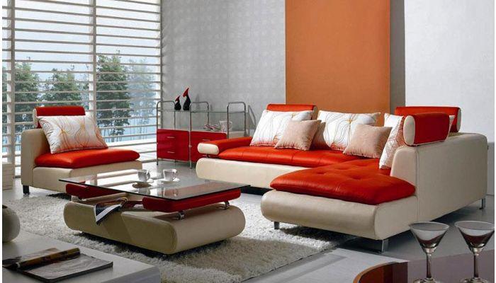 Modern Leather Sectional Sofa B 205