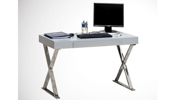 White Lacquer Finish Computer Desk BA 11