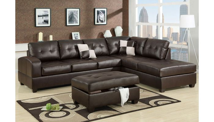 Remarkable Bailey Modern Leather Sectional Sofa Lamtechconsult Wood Chair Design Ideas Lamtechconsultcom