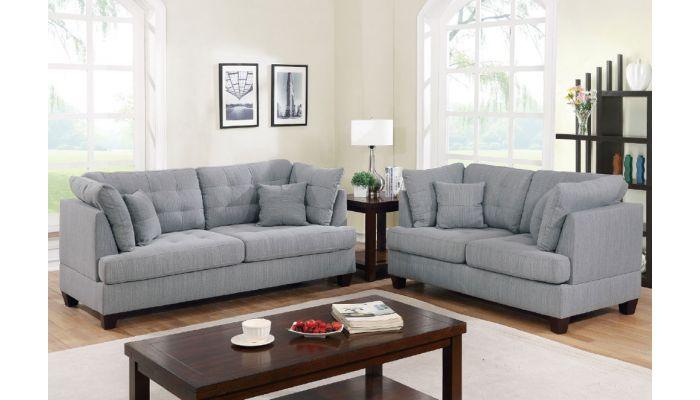 Balder Grey 2 Piece Sofa Set