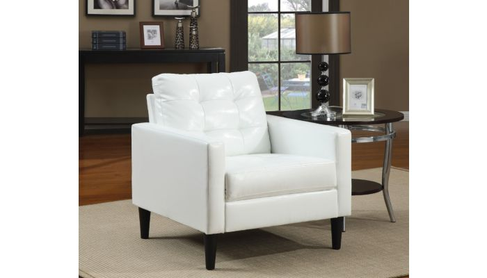 Incredible Balin White Leather Accent Chair Ibusinesslaw Wood Chair Design Ideas Ibusinesslaworg