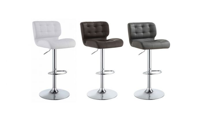 Astonishing Micah Tufted Leather Modern Bar Stool Squirreltailoven Fun Painted Chair Ideas Images Squirreltailovenorg
