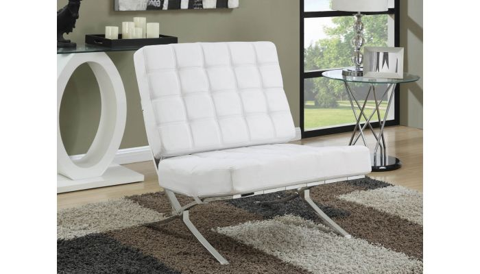 Magnificent Barcelona White Leather Accent Chair Ibusinesslaw Wood Chair Design Ideas Ibusinesslaworg