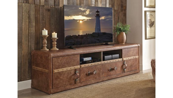 Barra Vintage TV Stand Top Grain Leather