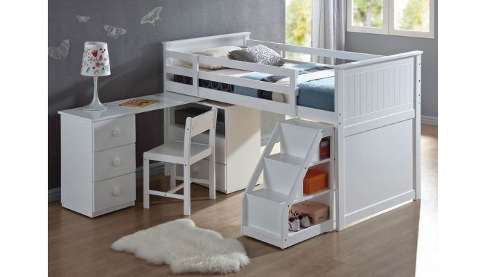 Beatrice Twin Loft Bed With Workstation