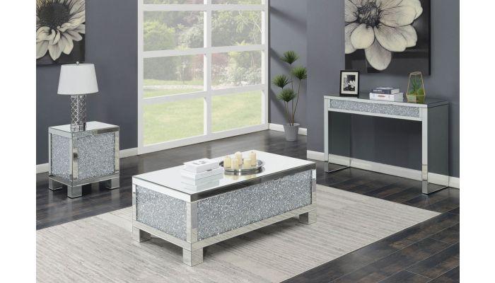 Benett Mirrored Coffee Table,Benett Mirrored Sofa Table,Benett Mirrored End Table