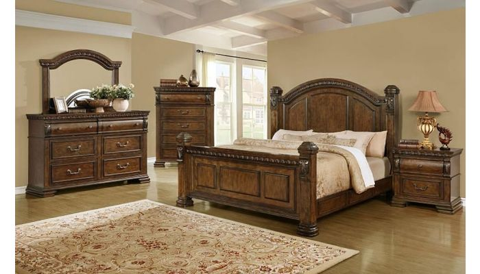 Benicia English Traditional Style Bedroom Furniture