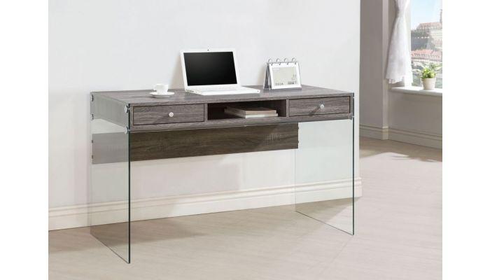 Bernice Weathered Grey Finish Desk