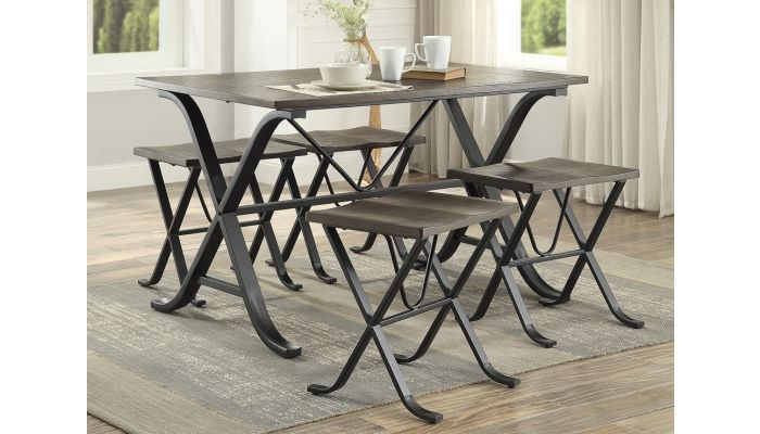 Berwick Industrial Style Pub Table 5-Piece Set