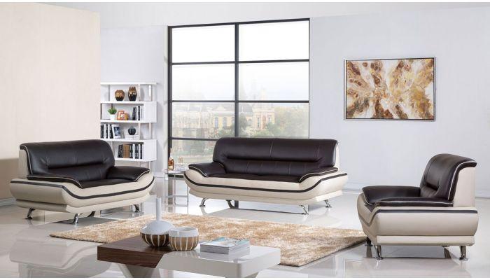 Betta Modern Style Two Tone Sofa Set