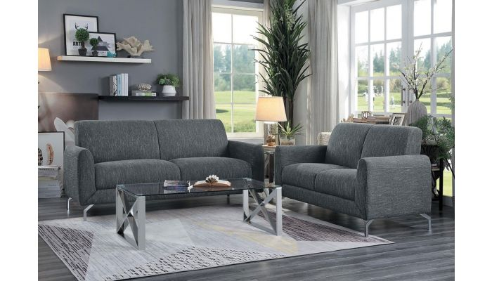 Bine Modern Gray Fabric Sofa