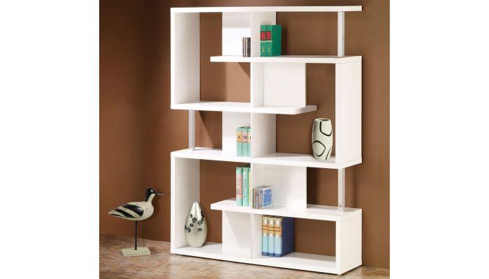 Borum Modern Style White Bookcase