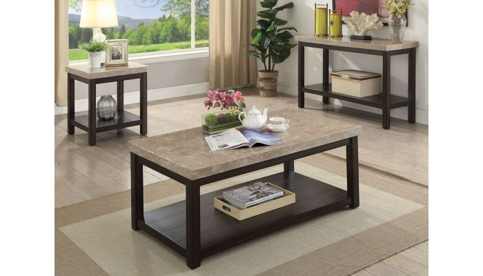Bravo Genuine Marble Top Coffee Table