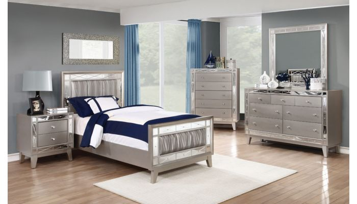 Brazia Youth Bed With Mirror Accents