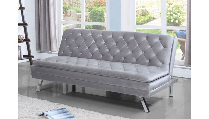 Britton Futon With Crystal Tufting
