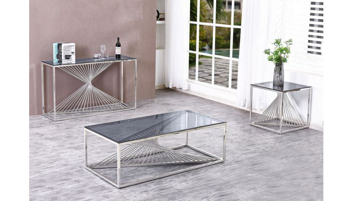 Brodie Modern Glass Top Coffee Table